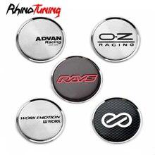 4 pièces 51mm 45mm Enkei rayons Advan OZ roue de course bouchons centraux moyeu pour Corolla Sentra Altima 350Z jantes couvercle