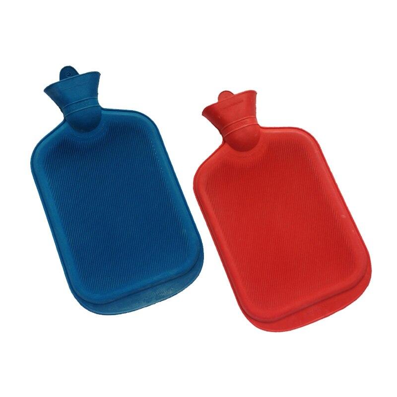 2000ML Thick Portable Hot Water Bottles Rubber Winter Warm Water Bottle Hand Warmer Girls Pocket Hand Feet Hot Water Bag