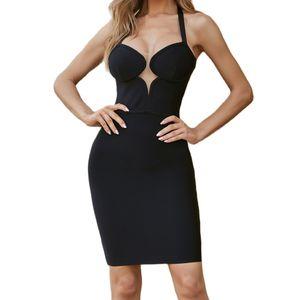 Womens Bodycon Bandage Dress Black Vestidos Summer Sexy Elegant Red V Neck Celebrity Runway Party Dresses