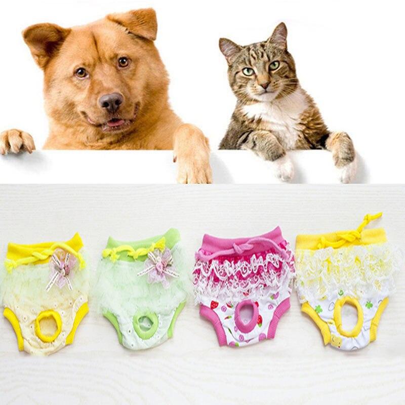 Кружевные физиологические штаны для домашних животных, разноцветные хлопковые физиологические штаны с принтом, дышащие санитарные товары ... я молешотт физиологические эскизы