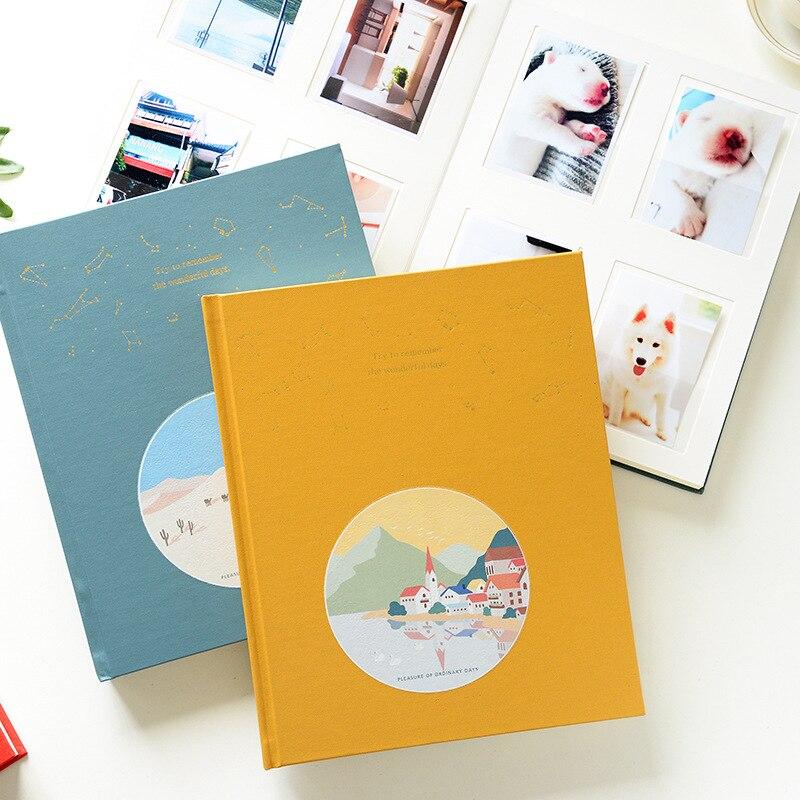 96 bolsos cor brilhante interleaf alta capacidade álbum de fotos casamento amor bebê crianças álbum de fotos dos desenhos animados álbum de fotos para 4 Polegada