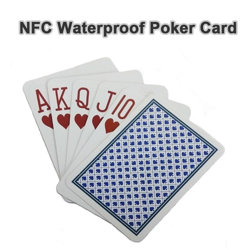 NFC водонепроницаемые карты для покера карты ПВХ интеллигентая (ый) магические карты RFID Заказные игральные карты 13,56 МГц RFID эксплуатационные ...