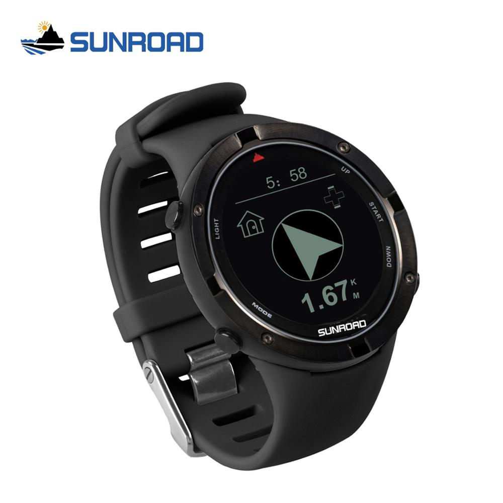 SUNROAD Digital Clock Sports Men Watch With Relogio GPS Heart Rate Altimeter Compass Barometer Running Cycling Watches For men north edge gps smart watch mens digital watch heart rate altitude barometer compass smartwatch men running sport fitness tracker