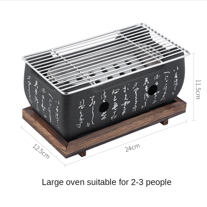 Easy Clean BBQ Grill Barbecue Grill Mini Household Aluminium Alloy Charcoal Barbecue Stove Oven Accessories Home enlarge