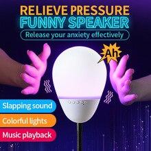 بلوتوث بات أضواء ملونة المحمولة قطرة برهان الصوت الجدول مصباح الصوت TF بطاقة مشغل MP3 مضحك المتكلم الضغط مكبرات الصوت