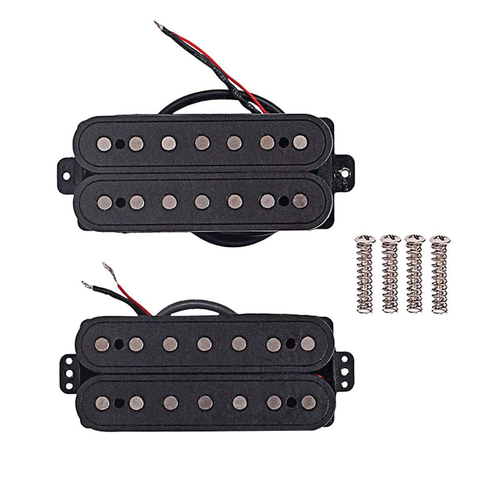 1 set 7 saiten faser alnico V hals und Brücke Gitarre Pickup Humbucker Pickup Teile Zubehör