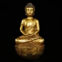 home decor 10tibet buddhism temple old bronze gilt amitabha buddha statue seated sakyamuni buddha enshrine the buddha