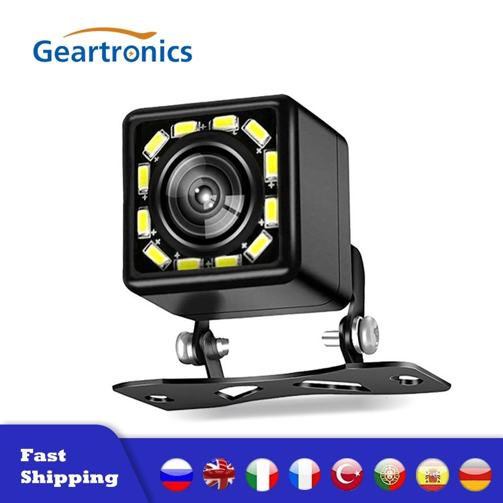 Cámara de vista trasera de coche Universal 4/8/12 LED de visión nocturna cámara de marcha atrás de aparcamiento a prueba de agua 170 gran angular HD Color imagen