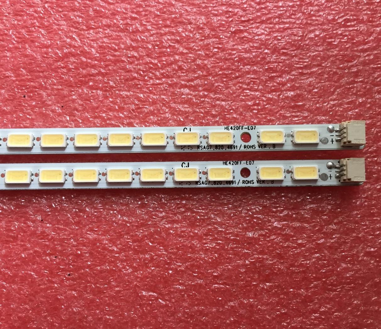 6Pieces/lot  FOR  Hisense  LED42K300  LCD TV backlight bar GT-1110977-B RSAG7.820.4691     HE420FF   62LED  475MM
