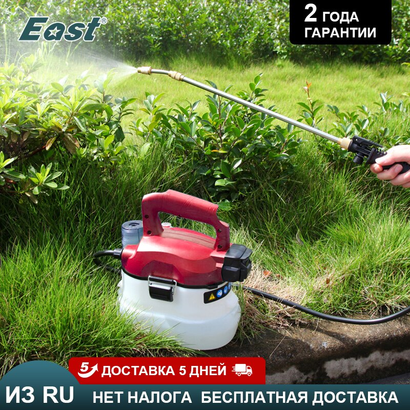 East Garden Sprayer 20V Electric Power 4L Sprayer Sprinkler Portable Watering Spraying Machine Electric Pump Sprayer Garden Tool