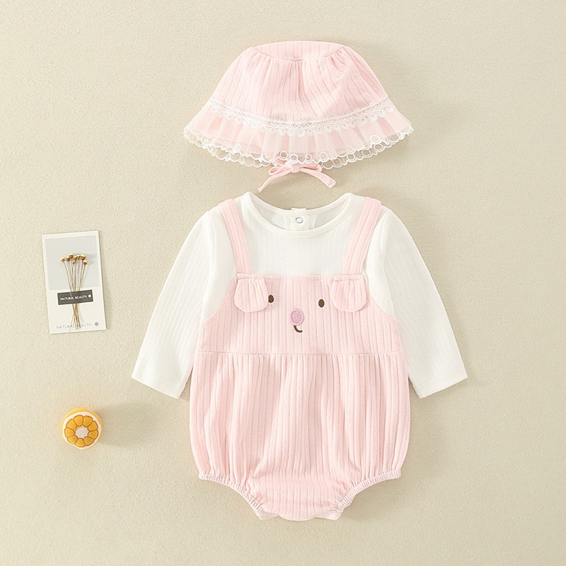 YG brand children's clothing bag fart clothes spring NEW BABY BODYSUIT Princess gauze lovely cotton triangle ha clothes