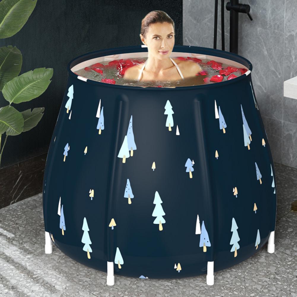 Foldable Portable Bathtub Adult SPA Tub Self Bath Bucket Thicken Shower Barrel Standing Soaking Bath Tub Bathroom Home Sauna New