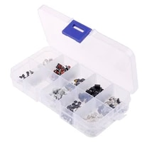 250pcs 10models tactile push button switch micro switch car remote control button switches with box