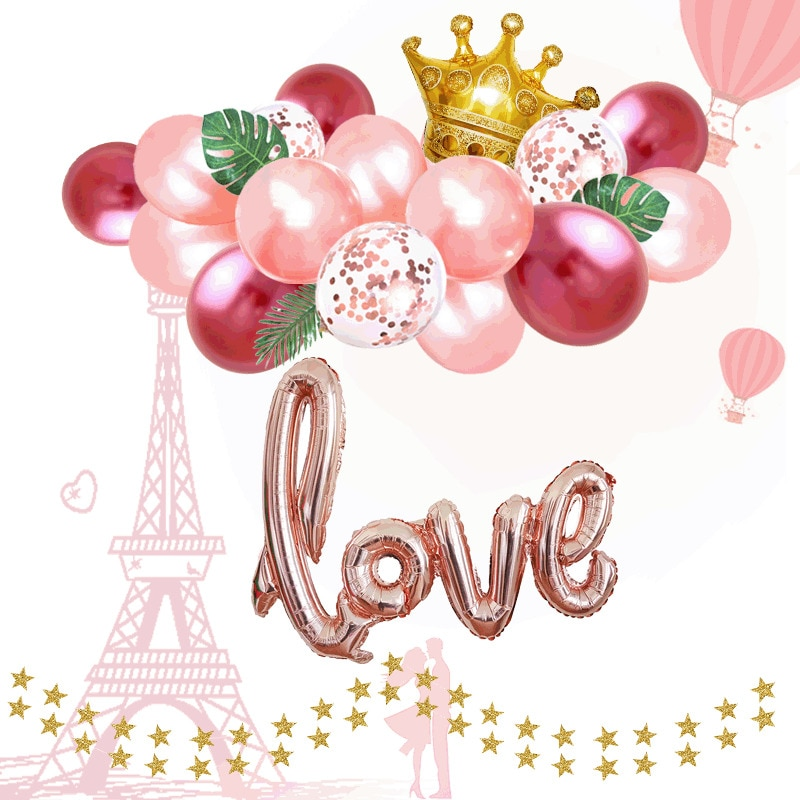 1 set 12 pulgadas Rosa oro plata aluminio número Globos cumpleaños boda compromiso fiesta decoración Globos niños bola suministros