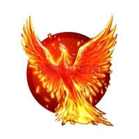 car stickers vinyl motorcycle decal car window body decorative unique flame phoenix burning flying wings creative car stickers