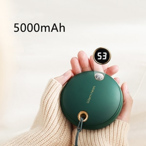 Rechargeable Hand Warmer Winter Heater 5000mAh Portable Power Bank for iPhone Xiaomi Mobile Phone Powerbank with Digital Display