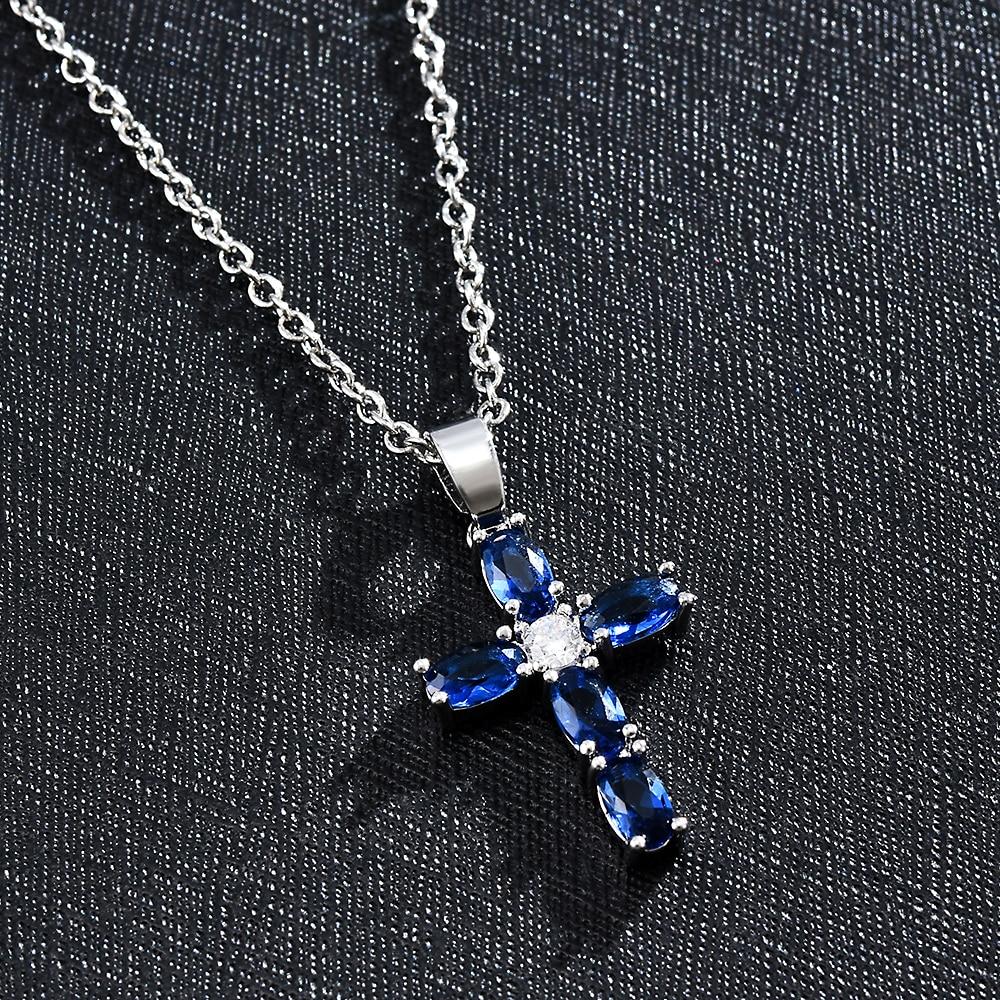 Croix chanceux cristal pendentif chaîne colliers zircone déclaration collier femmes colliers bijoux pour maman cadeaux de mode pour les femmes