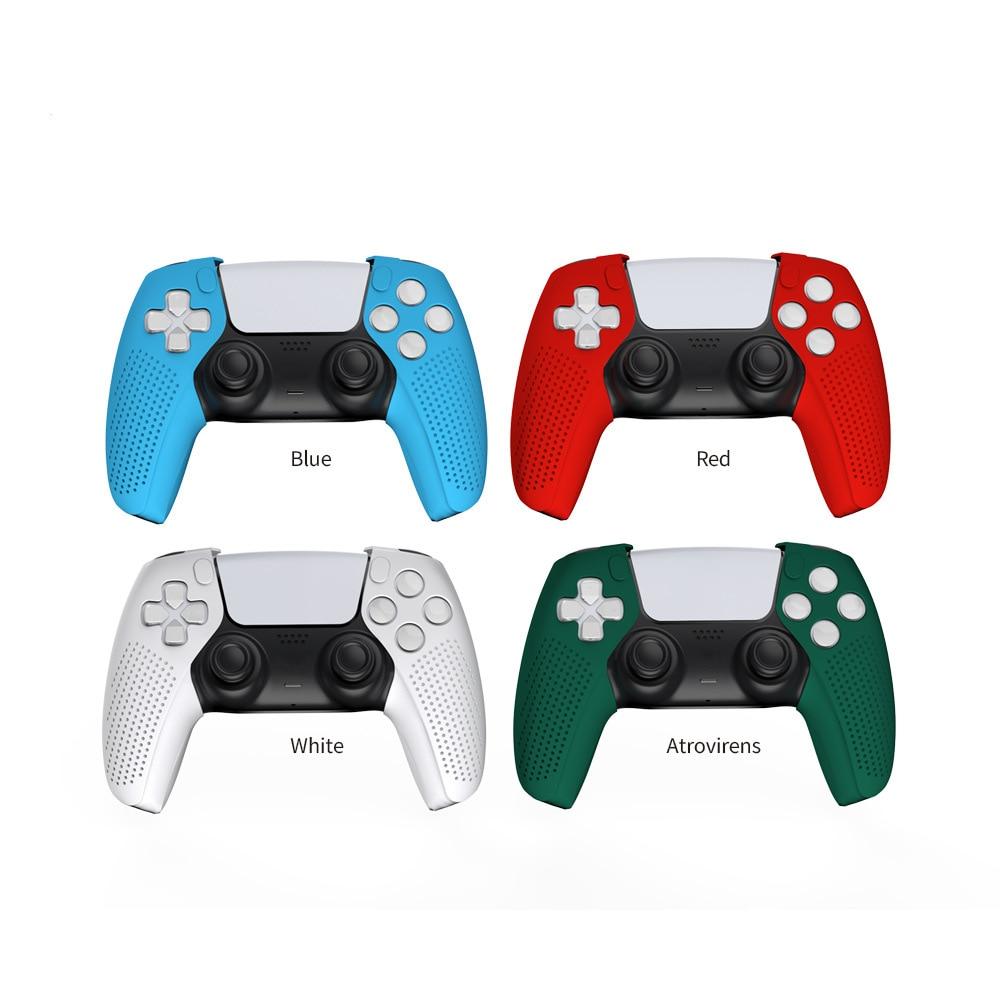 Силиконовый чехол для игрового контроллера для PS5, разделенный силиконовый рукав, защитный рукав для геймпада, несколько цветов на выбор
