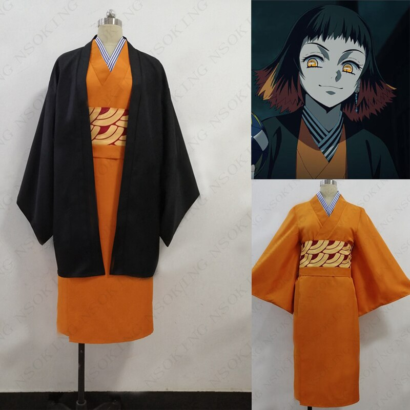 Anime demônio slayer kimetsu não yaiba susamaru cosplay traje feito sob encomenda