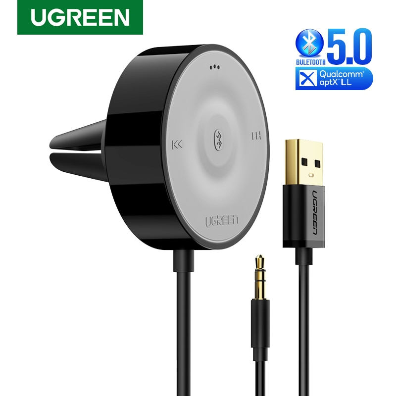 UGREEN-مجموعة استقبال Bluetooth 5.0 اللاسلكية ، aptX LL ، محول AUX 3.5 ، مستقبل صوت السيارة ، مقبس 3.5 مللي متر ، USB