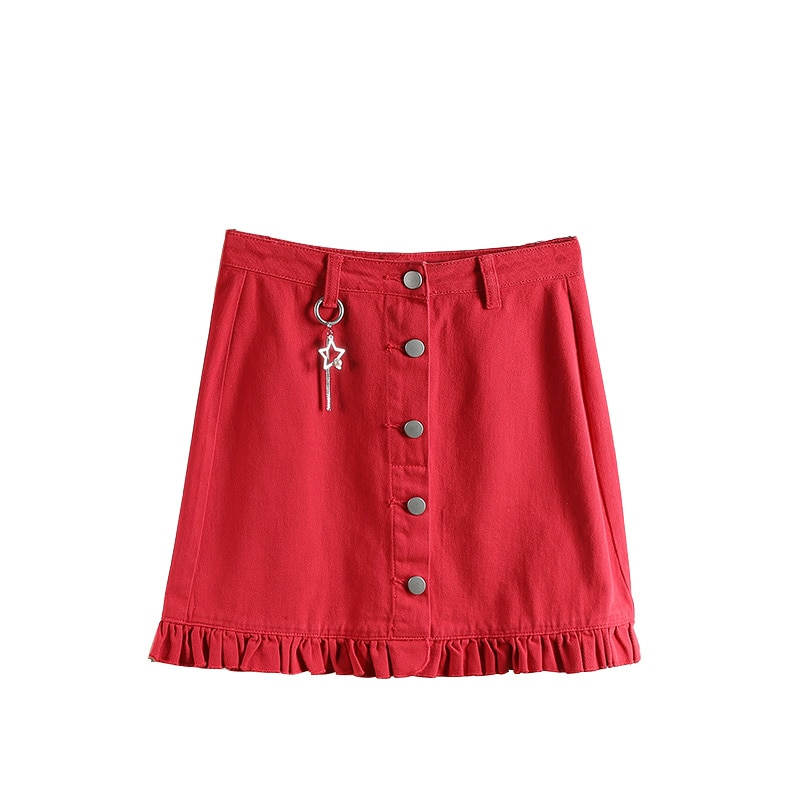 2021 Spring New Town Series ● College Style Denim Skirt Women's Clothing