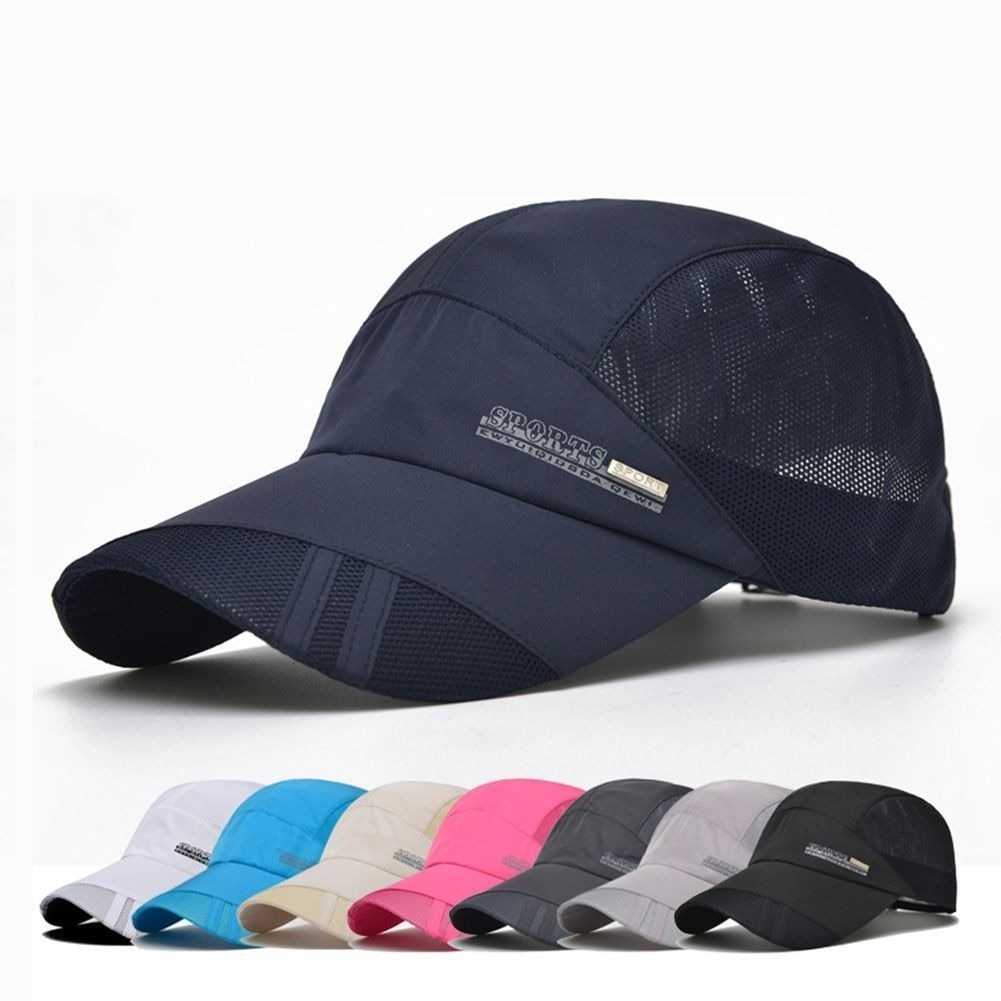 Men Women Quick-drying Summer Outdoor Sport Running Baseball Mesh Hat Visor Cap