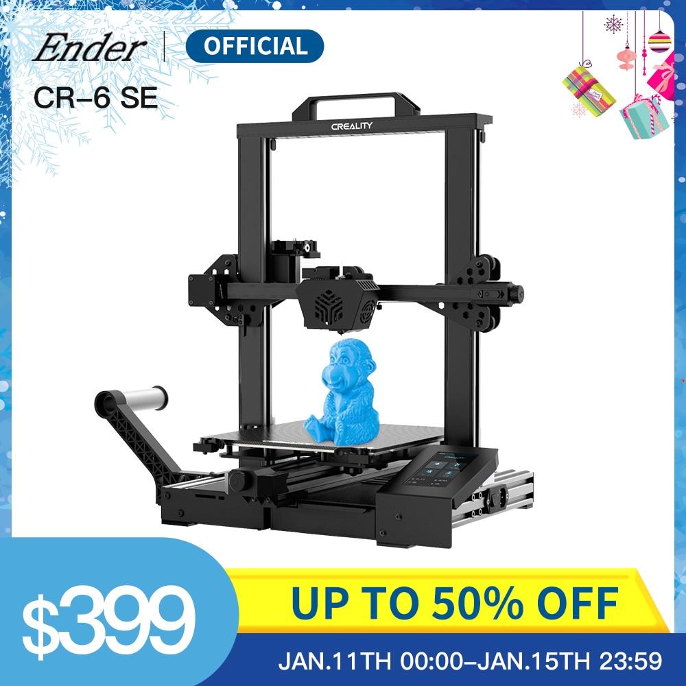 Creality 3D CR-6 SE, Kit dimprimante 3D, écran tactile, nivellement, carte mère silencieuse, alimentation meanwell, Dual Z Axie