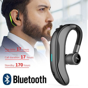 F600 Wireless Bluetooth Earphones Stereo Headset Business Bluetooth Headphones For Driving 170mAh Single Handsfree with Mic