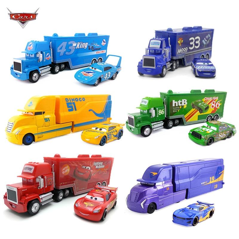 Disney Pixar 2/3 juguete relámpago McQueen Jackson tormenta crucero tío Mike camión 155 aleación modelo coche de juguete para cumpleaños de los niños