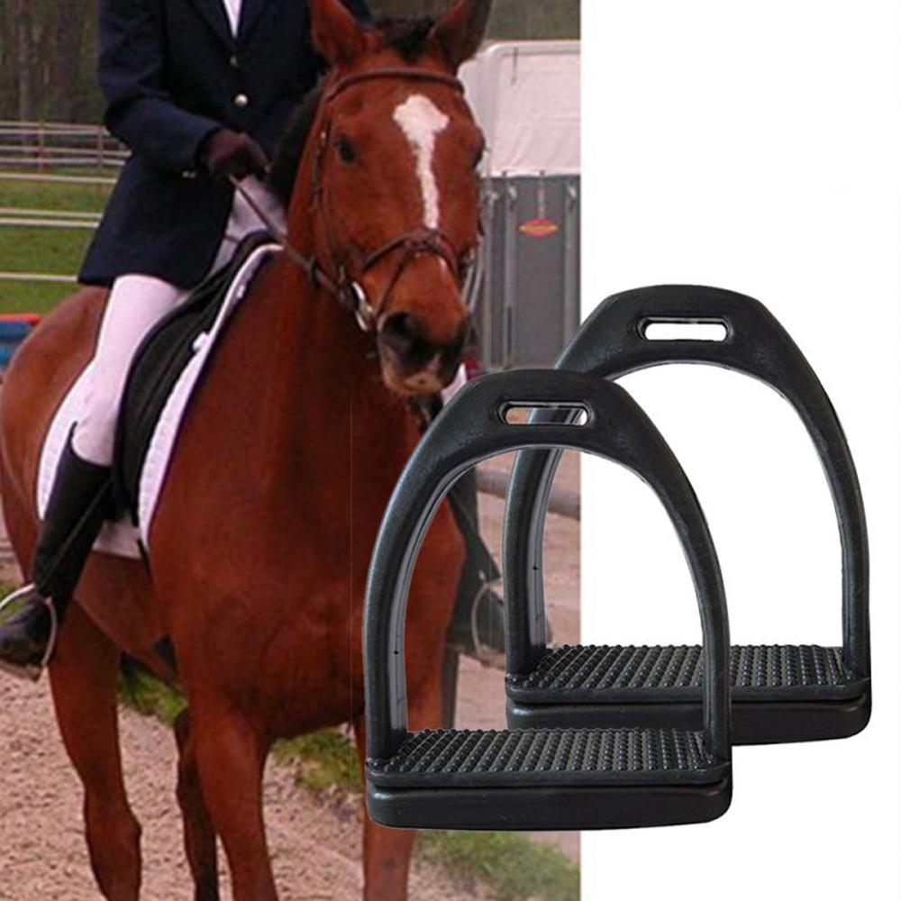 Two pieces of riding stirrup aluminum alloy rider lightweight wide gauge anti-skid horse foot iron 40dc23