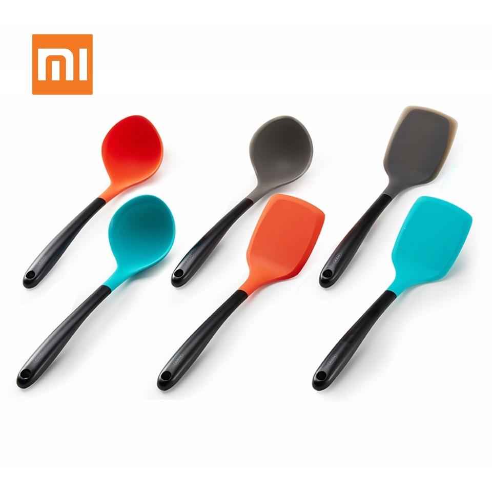 Xiaomi-ملعقة جل سيليكون أصلية ، ملعقة من الفولاذ المقاوم للصدأ ، مقاومة للحرق ، غير قابلة للانزلاق ، أدوات مطبخ ، أواني ذكية