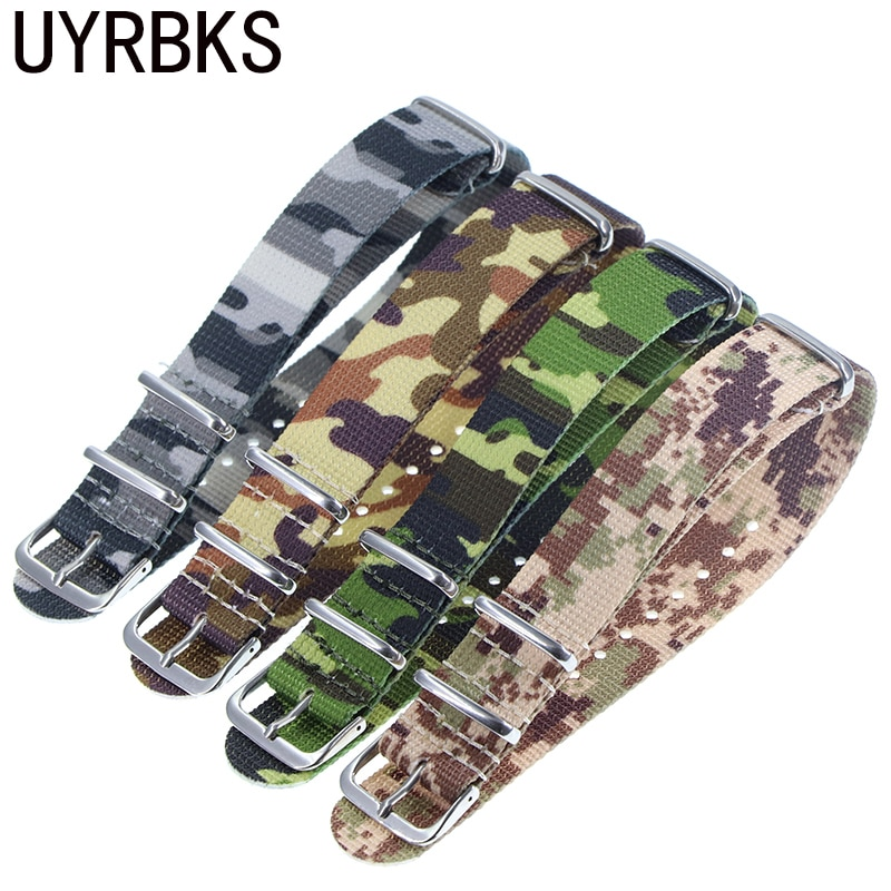 High Quality Nato Style Nylon 18mm 20mm 22mm Watch Band James Bond 007 Military Casual Watch Strap Army Sport Watch Band