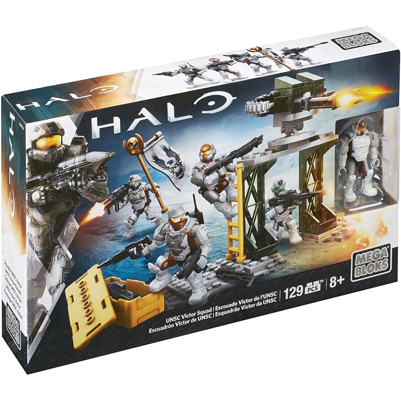 MEGABLOKS-bloques de construcción de Halo UNSC Victor Squad para niños, 129 Uds./pzs...