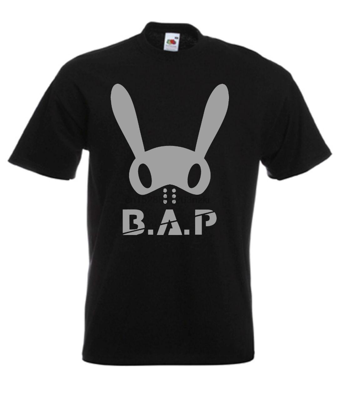 B.A.P BAP Sur Kpop coreano música T camisa 100% recta de algodón o-Cuello de manga corta