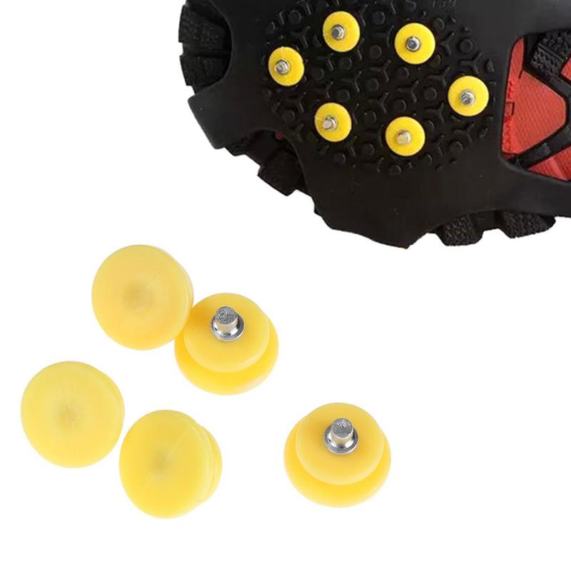 10pcs/set Outdoor Teeth Nail  Ice Snow Crampons Spike Anti-slip Shoe Cover