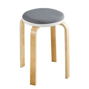Solid wood stool home dining  simple thickening  creative small sofa
