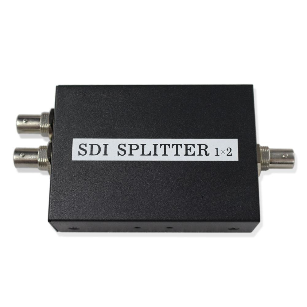 Divisor de Video BNC Box SDI distribuidor amplificador para sistema de monitoreo de Video cámara de seguridad CCTV de 2 puertos (1 entrada 2 salida)
