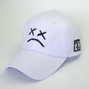 Lil Peep Dad Hat Embroidery 100% Cotton Baseball Cap Sad face Hat xxxtentacion Hip Hop Cap Golf Love lil.peep Snapback Women