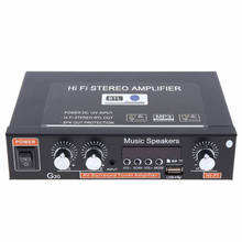 Universel G30 Hifi Bluetooth voiture o amplificateur de puissance FM lecteur de Radio prise en charge SD / USB / DVD / MP3 avec télécommande EU Pl