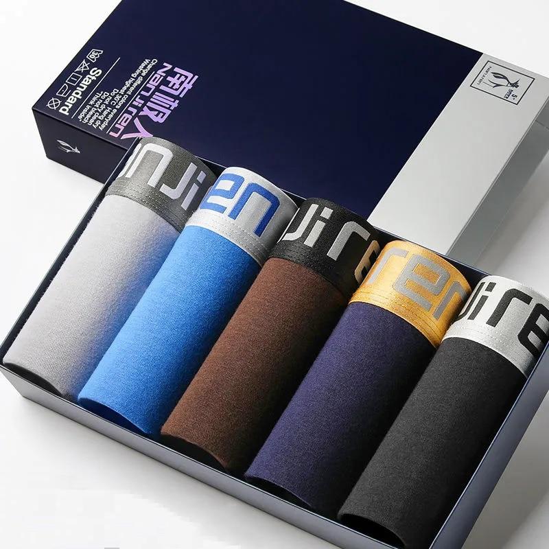 Men's Underwear Men's Pure Cotton Summer Boxer Pants Antibacterial Breathable Trend Four Corner Shor
