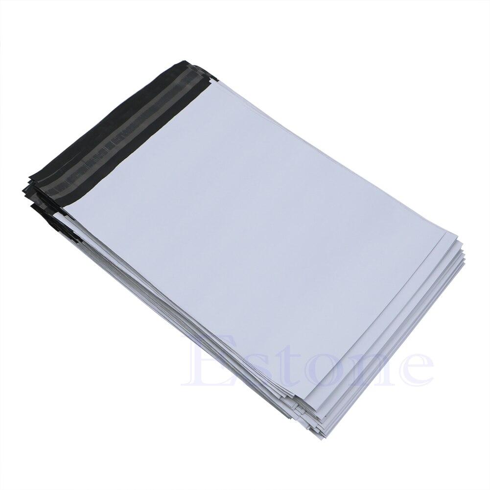 100 pces poli mailer plástico expresso recipiente envio sacos de correio envelope polybag novo 20*34cm