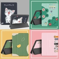 cute pu cover for ipad air 2 3 4 mini 4 5 7 9 case soft funda case for ipad 9 7 10 2 10 5 inch pro 11 case with pencil holder