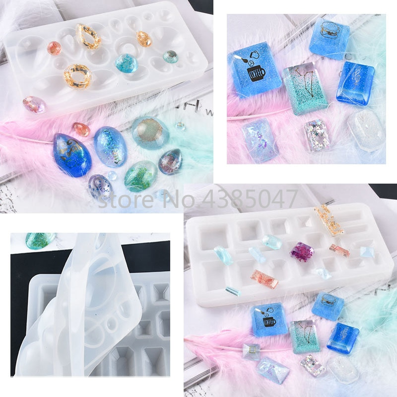 Diy dois pingentes durável silicone uv resina jóias ferramentas secas moldes de flor artesanal pingente jóias ferramenta