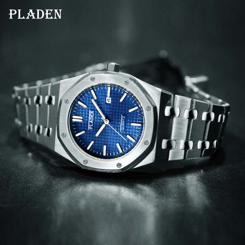 PLADEN Men Watches Top Brand Luxury 2021 Sport Men's Watch Waterproof Stylish Business Stainless Ste