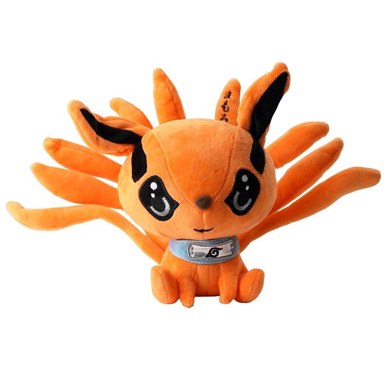 Плюшевые игрушки в виде лисы и демона, 25 см