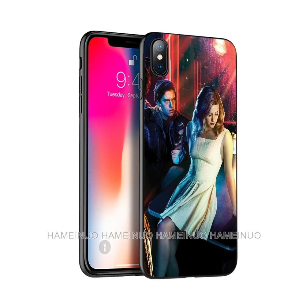 Carcasa de TPU negra para iphone 5 5s se 6 6s 7 8 plus x 10 caso para iphone XR XS 11 pro MAX caso eventos pop lado sur de JUGHEAD