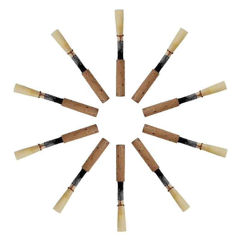 10 Uds cañas para oboes negro de alta calidad cañas para oboes corcho hecho a mano Cañas medio suave accesorios para instrumentos de viento