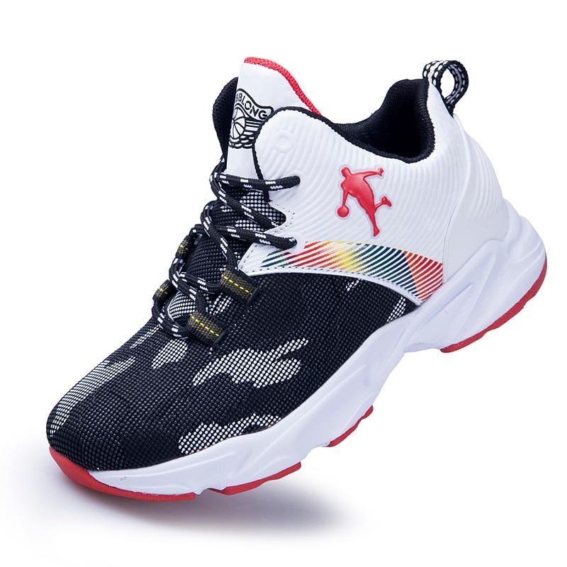 High-top Jordan Basketball Shoes 2020 New Teenager Non-slip Breathable Boys Sport Shoes Students Sneaker KidsTraining Boots32-40