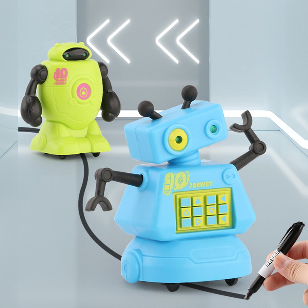 Creativo y Original robot eléctrico inductivo, seguidor de línea de coche, juguete mágico, sigue cualquier línea que dibujas, regalos de Navidad, juguete educativo