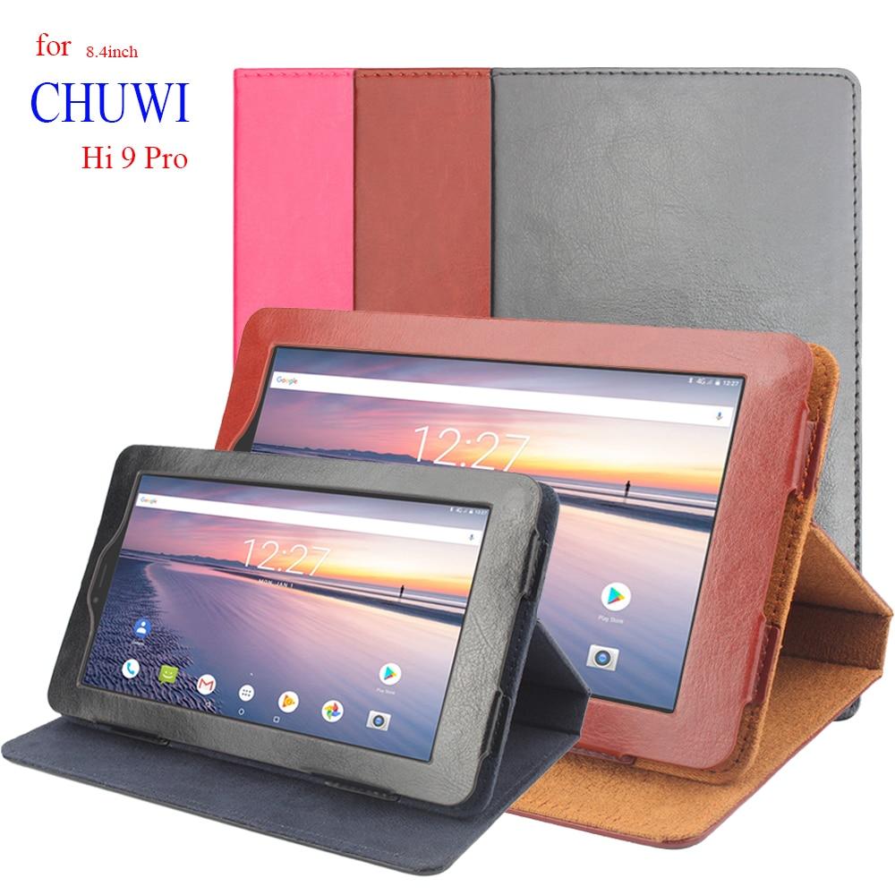 Funda plegable de piel PU Premium de 8,4 pulgadas con tapa para Chuwi Hi 9 Pro, funda protectora de 360 grados para CHUWI Hi9 Pro, fundas de soporte para Tablet
